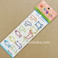 school Supply DKH018-12pcs of shaped paper clips in a paper card