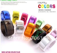 Sakura's DHL free+100pcs High quality Korea Style Wrist watch, ODM jelly Bracelet watch, 10 colors watchband Bangle watch