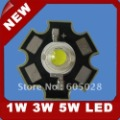 free shipping -5W White LED Chip-Star Type 280-320LM