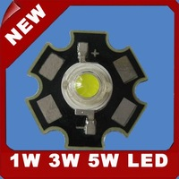 3W White LED with star heatsink 160-180LM