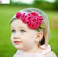 predetermine  2011 NEW baby headband with flowers/  top baby tenia hair clips wholesale free shipping