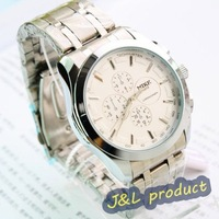 Mens Quartz Watch Sport Style Stainless Steel Chrono cool, quartz analog wrist watch, Free shipping
