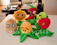 Plush Toys Plants vs Zombies PVZ Soft Toy (14--19cm) Factory Products 50pcs/lot Fre Shipping