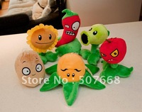 Plush Toys Plants vs Zombies PVZ Soft Toy (14--19cm) Factory Products 100pcs/lot Fre Shipping
