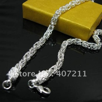 Wholesale 925 Sterling silver Chain necklaces,dragon necklace Freeshipping