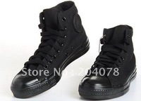 free shipping hot sale fashion Canvas Shoes for men's\women's high style color full black N01