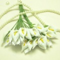 Beatuiful Handmade Mini Calla Lily Flower Wedding Favor Decor Scrapbooking(White ,144pcs)--Free shipping