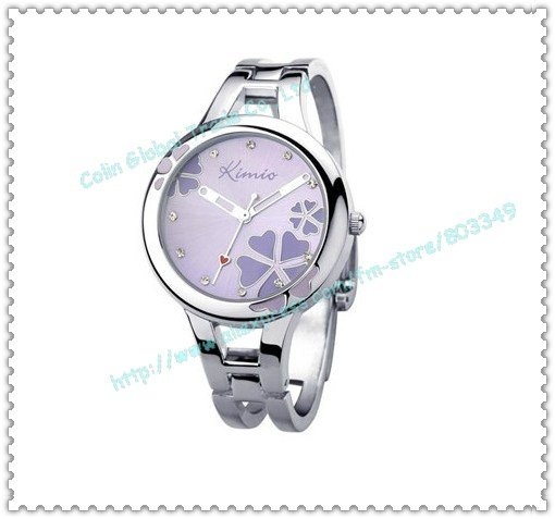 free shipping, high quality tag quartz watch, diamond jewellry Lucky Clover high quality brand watch 2 years warranty K425L(China (Mainland))