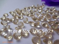 FREE SHIPPING-1000pcs 1Carat(6.5mm) Gold Shadow Diamond Confetti Wedding Party Decoration HOT Wholesale and Retail