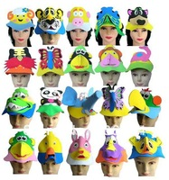 Free shipping,30pcs/lot,EVA animal hat/Cartoon hat, many cartoons ,suitable for performance ,party ,birthday and so on