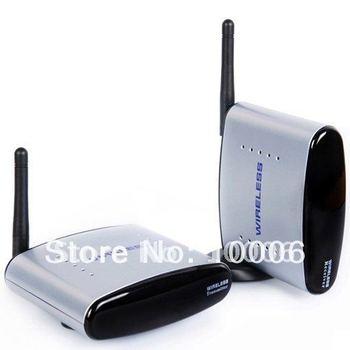 2.4G AV Sender Wireless Transmitter Receiver 150meters,av sender and receiver, wireless av sender,Free Shipping,Wholesale#190004