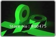 10cm width ,Green photoluminescent tape/ glow in the dark tape,photoluminescent film, free shipping