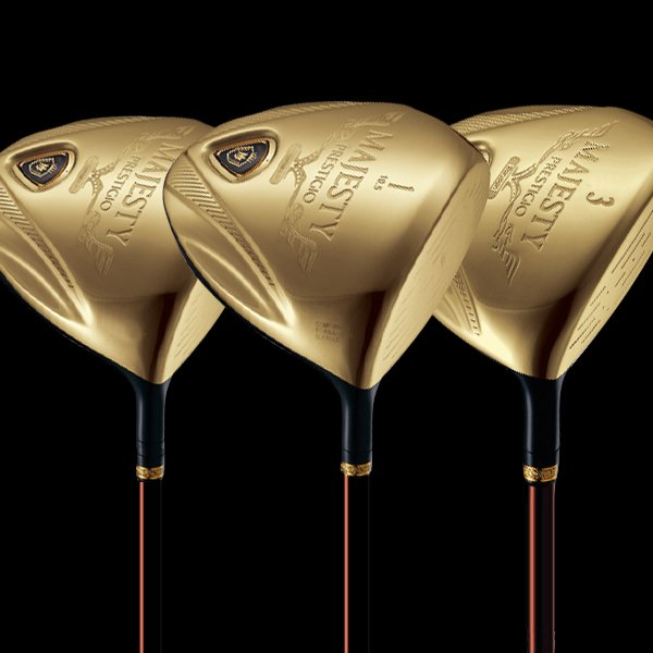 Maruman MAJESTY PRESTIGIO Gold Premium Golf Club 1# Driver 10.5 loft or 3# or 5# Wood 3pc Club EMS FREE SHIPPING(Hong Kong)