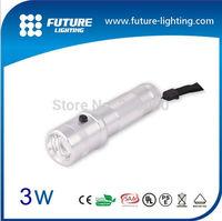 Free shipping high quality Edison 3W RGB led flashlight