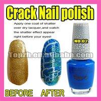 Fast & Free Shipping 5 x New Nail Art Crack Pattern Nail Polish Varnish  Blue F281