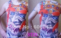 16pcs/lot Tattoo Clothing Tattoo T Shirt Tattoo Vest in Mixed Items for Wholesale