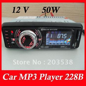 Free shipping car mp3 player 228B 12V 50W car player