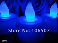 Wholesale!100% quanlity assurances,environmental protection,24PCS BLOW IT OUT BLUE Tea Light LED Candle Lamp Wedding party decor
