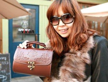 Hot selling hand bag,PU fashion women's shoulder bag hotsale handbag repristination design bag (300-25-600)