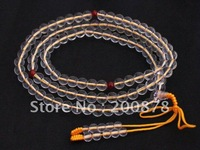 BRO899  Tibetan 108 beads white crystal Meditation Mala,8mm,Buddhist prayer beads rosary