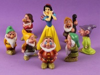 Wholesale - Snow white and the Seven Dwarfs action figures cake topper 8pcs set New and rare free shipping