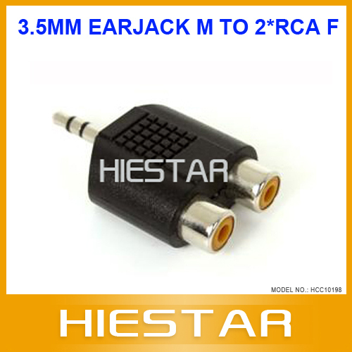Stereo 3.5mm Male to Two RCA Female Adapter(Hong Kong)