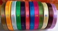 wholesale-free shipping  3/8'' 9mm 10yard/pcs Satin Ribbon 12 colors