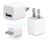 10pcs/lot wall travel usb charger adapter for iphone 2G, 3gs,4G,ipod,touch+free shipping