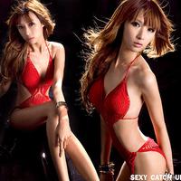 SEXY SWIMWEAR RED  CROCHET UNIQUE BATHING SUIT BIKINI