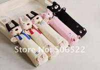 Free shipping 100% new Wholesale 30pcs/lot  Cotton Material Cat Design Pencils or Pen Bag/Case/pouch