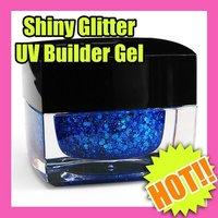 Best Selling Freeshipping charm nail art shiny glitter UV gel builder Wholesales Price S082-10