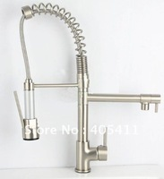 2012new!brushed nickel Kitchen Mixer tap .Spring taps.Luxury large faucets.top quality spray faucet .(55cm)1pcs/lot