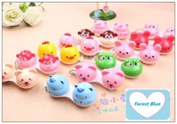 Free Shipping 12pcs/lot Animal Contact Lens Case animal Lenses Box/Color Cute Contact lens case/Cartoon Glasses box wholesale(China (Mainland))