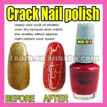 Wholesales Price Freeshipping 5pcs/LOT New Nail Art Crack Pattern Nail Polish Varnish Red F271