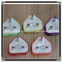 10 color UK Plug USB charger AC Wall charger usb  Power Adapter Charger for iPhone 3  3GS 4 4S