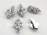 wholesale One Rhinestone 100pcs Slide & Hang Charms Internal Dia.:8mm(Fit 8mm band)DIY Charms Fittings Accessory