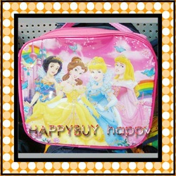 20 Sets Princess Cartoon Free Shipping Kids Lunch Bag / Box Set (3pcs per set) Gift Hotsale(China (Mainland))
