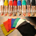 Women Lady 13 Candy Colors MINI SKIRT Slim Fit Seamless Stretch Tight Hot sale 80511