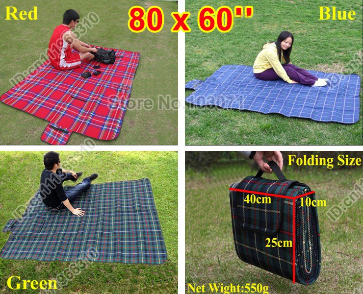 Portable Waterproof Backing Baby Kid Toddler Camping Picnic Beach Outdoor Auto Travel Yard Play Crawl Mat Blanket Pad Playmat(China (Mainland))