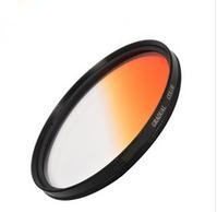 67mm circle Graduated Gradual Orange lens Filter Gradual Color 67 mm(China (Mainland))