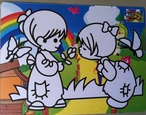 10pcs/lot, Color Sand art art painting set kit for children gift