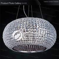 Crystal chandelier ball-shaped pendant lamps decoration Lighting for Living Room Bedroom Hallway  OM8153 Dia50 H80