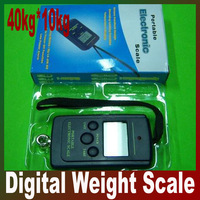 10g 40kg / 40kg - 10g Electronic Portable Fishing Digital Pocket Scale,lb, oz,hanging scale  free shipping