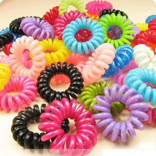free shipping South Korea adorn article telephone line phone cord hair hair rope ~ do not hurt the circle hair ~ MM necessary(China (Mainland))
