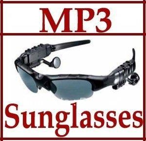 Sunglasses 2GB Headset Headphone Mp3 Player Sun Glass ,free shipping