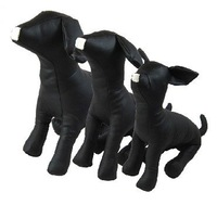 Hot pet accessories&free shipping Black Leather Dog Mannequins S/M/L White Black