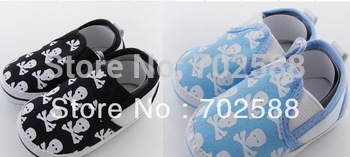 Wholesale skull baby shoes non-slip shoes toddlers baby shoe shoe soft shoes 60pair