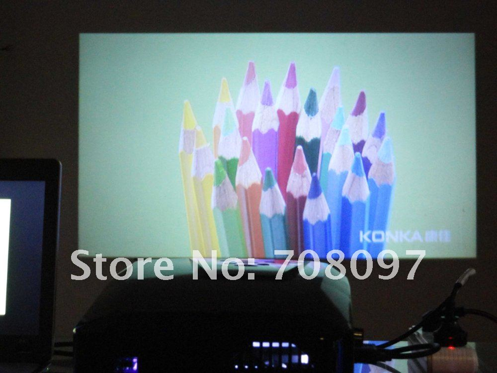 Free shipping!!! HD LED home projector with HDMI USB VGA AV input factory offer lower price(China (Mainland))