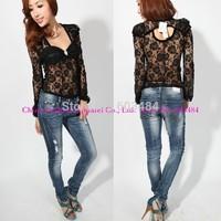 High quality! sexy lace t shirt, fashion t-shirt,size M,MM127