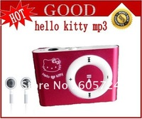 New Hello Kitty Clip MP3 Player support 1G-8G TF Card Free shipping
